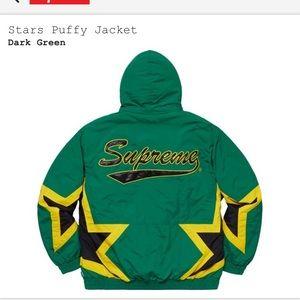 Supreme Stars ✨ Puffy Jacket. Brand new SS19